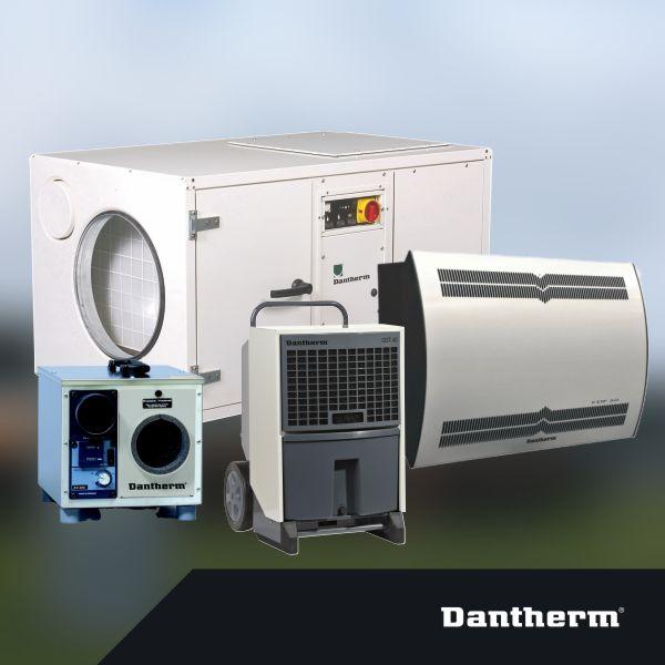 Dantherm odvlhčovače vzduchu