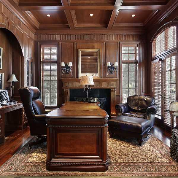 Dřevo interiér prostředí